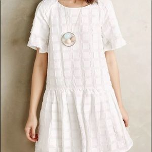 Anthropologie Maeve dress XS oversized white